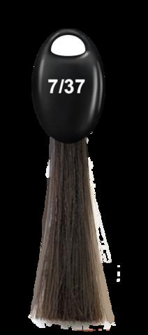 OLLIN N-JOY  7/37 – русый золотисто-коричневый, перманентная крем-краска для волос 100мл