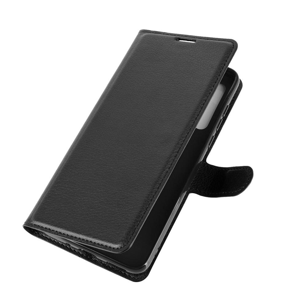 Чехол книжка черного цвета для Motorola G8, с отсеком для карт и подставкой от Caseport