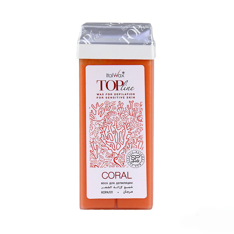 Воск ITALWAX Top Line в картридже 100мл Коралл Coral
