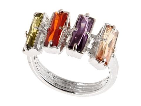 Кольцо с серебрением Бродвей