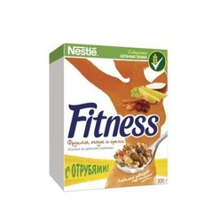 Хлопья Nestle Fitness & Fruits с фруктами ягодами и орехами 300 г