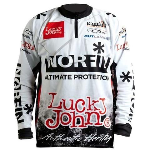 Футболка Norfin & Lucky John белая 01, размер S, арт. AM-155-01S