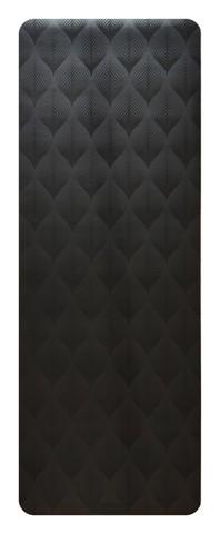 Каучуковый йога коврик Leaf Black 185*68*4,5 см