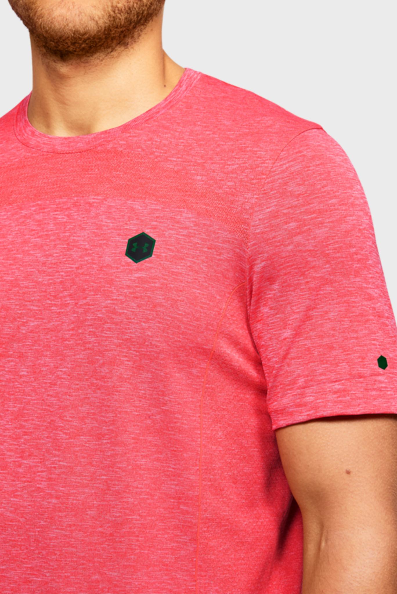 Мужская красная спортивная футболка Rush HG Seamless Fitted SS Under Armour
