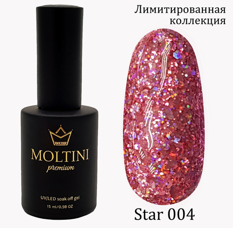 Гель-лак Moltini Premium STAR 004, 15 ml