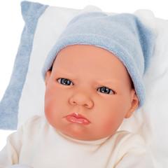 Munecas Antonio Juan Кукла Изабель в голубом, озвученная (детский лепет), 52 см (1955)