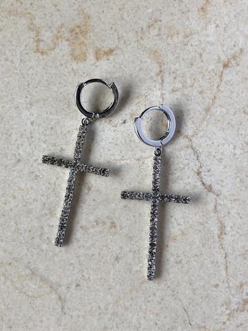 Серьги Апостол, серебряный цвет