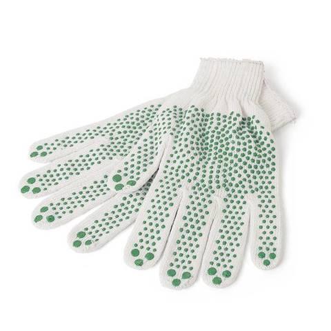 Перчатки трикотаж. точеч. ПВХ покрытие 1-2-PRO 3-х нитка белая 7 класс
