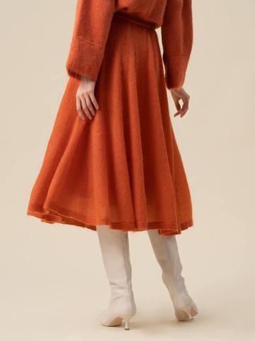 Женская юбка терракотового цвета - фото 5