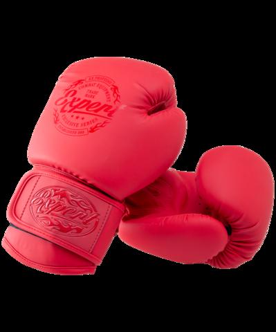 Перчатки боксерские BGS-V010, красный, 10 oz