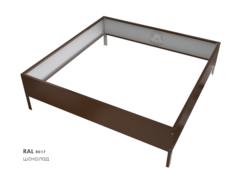 Клумба квадратная оцинкованная 1 ярус RAL 8017 Шоколад