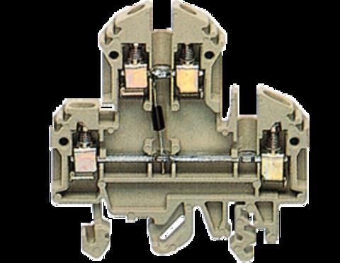 RKD 4/D1 BG Двухуровневая проходная винтовая клемма с диодом 1N4007 стандартного бежевого цвета  Артикул: 1046.2