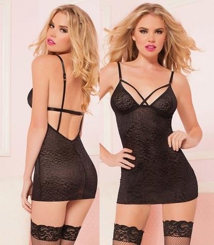 Черное эротичное платье WILD CAT
