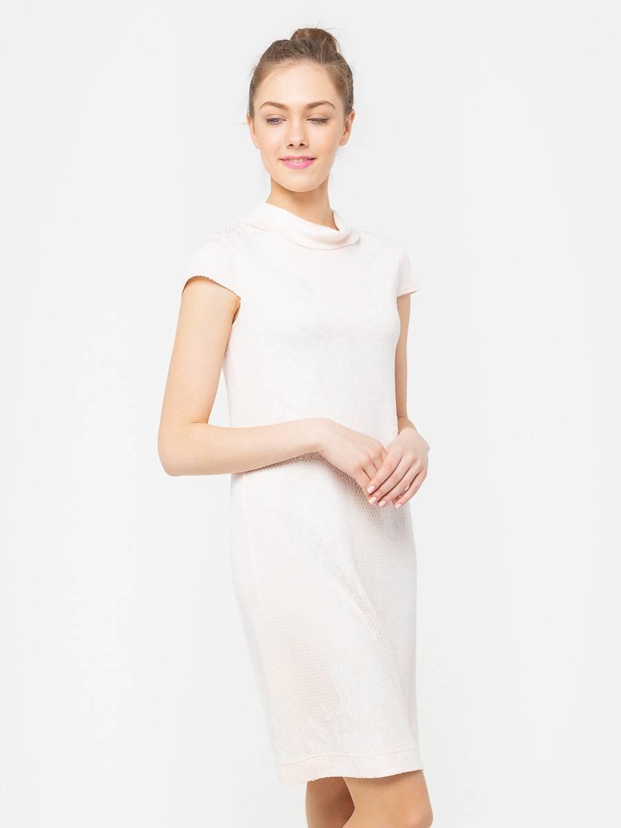 Платье З789-446 - Платье прилегающего силуэта из жаккардового трикотажа. Фасон платья облегает фигуру, но оставляет свободу движений. Отлично будет смотреться как в офисе, так и на вечерних мероприятиях.