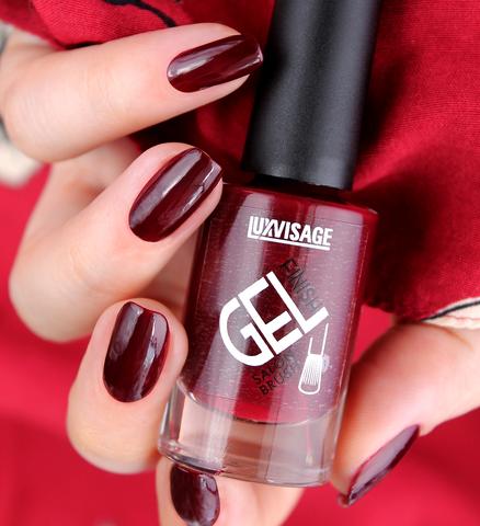 LuxVisage Лак для ногтей GEL finish тон  9(темно-коричневый) 9г