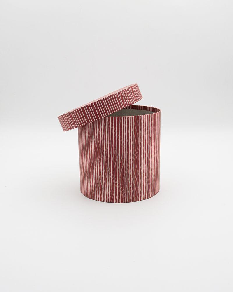 Коробка Цилиндр Бордовая Мини