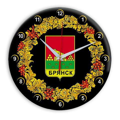 Часы в стиле Хохлома сувенирные Брянск 03