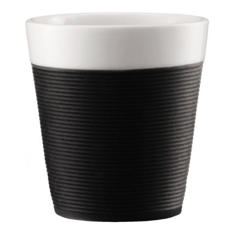 Набор кружек Bodum Pavina с силиконовым ободком (2 шт. по 0,17 литра), черный