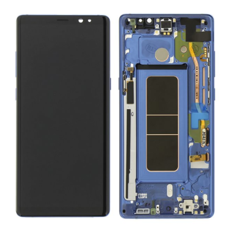 LCD SAMSUNG Note 8 N950F + Touch + Frame Blue Orig
