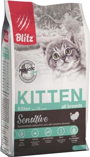 Blitz Корм для котят, беременных и кормящих кошек, Blitz kitten, с индейкой котят_инд_2.jpg