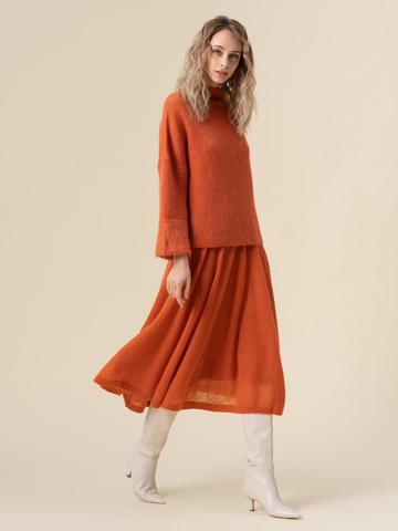 Женская юбка терракотового цвета - фото 2