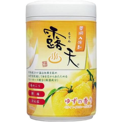 Fuso Kagaku Соль для ванны с бодрящим эффектом и ароматом юдзу 700 гр в банке