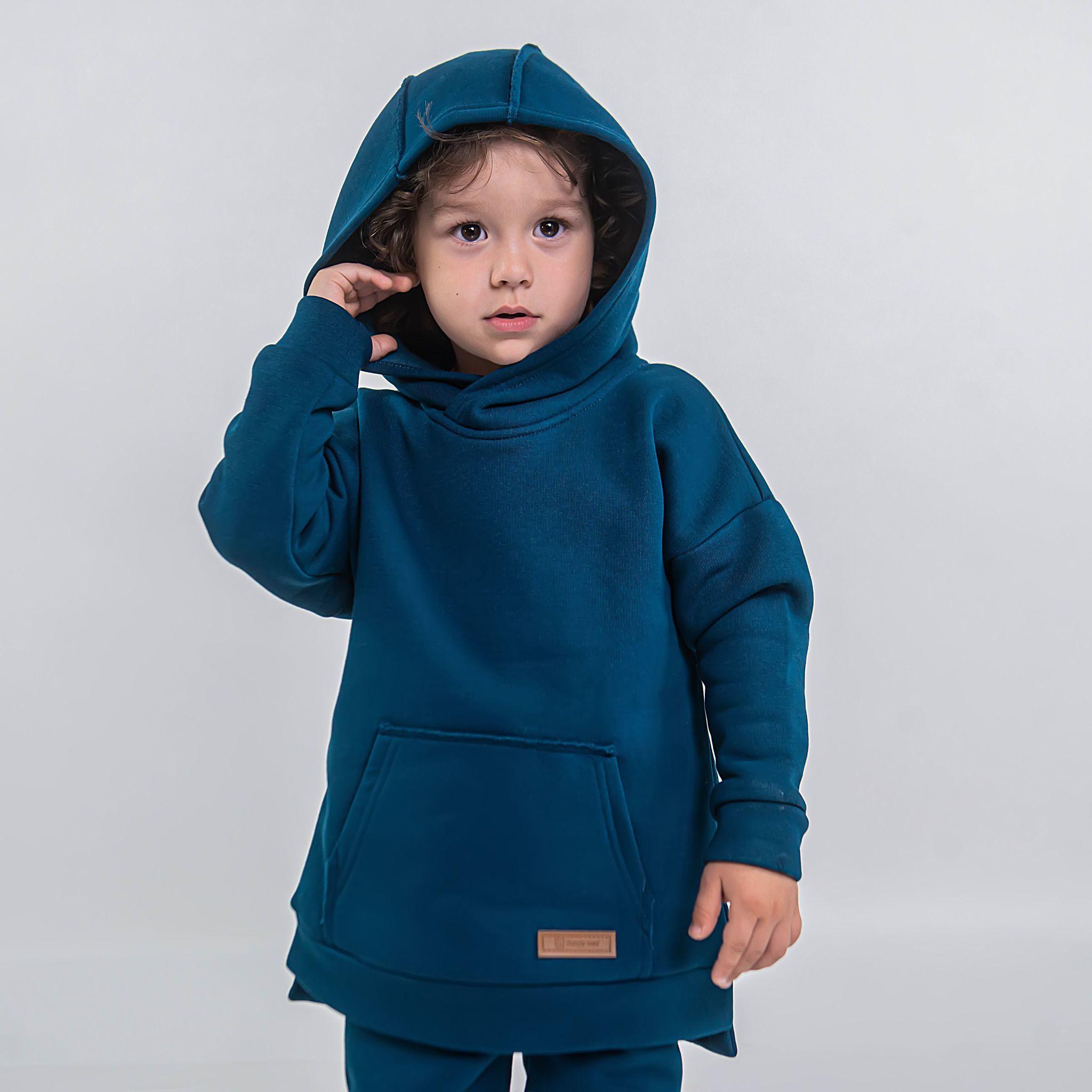 Warm hoodie - Petrol Blue