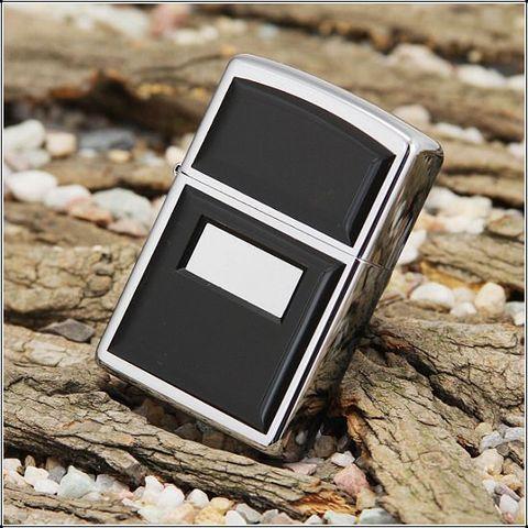 Классическая Зажигалка ZIPPO 355 Ultralite Black Emblem