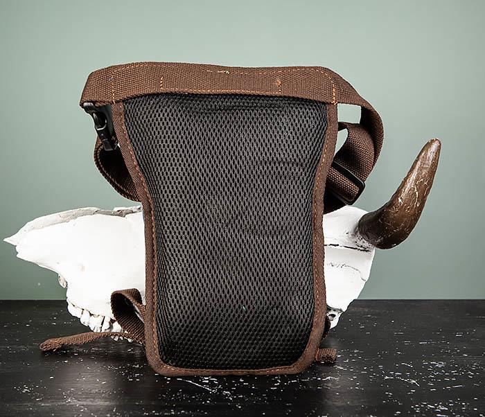 BAG506-3 Небольшая сумка на бедро из текстиля синего цвета фото 05