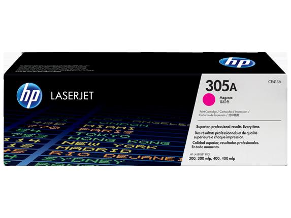Картридж лазерный цветной original 305A CE413A пурпурный (magenta), до 2600 стр.