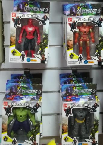 Набор: Человек Паук, Железный Человек, Халк, Бетмен по 15 СМ