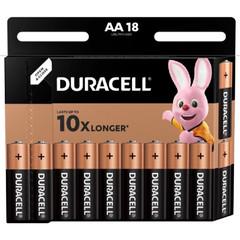Батарейки Duracell пальчиковые АА LR6 (18 штук в упаковке)