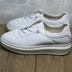 Модные женские кроссовки белые на высокой подошве Rozen M-520 All White.