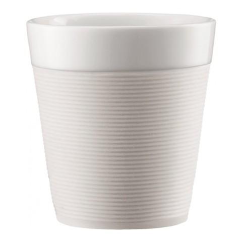 Набор кружек Bodum Pavina с силиконовым ободком (2 шт. по 0,17 литра), белый