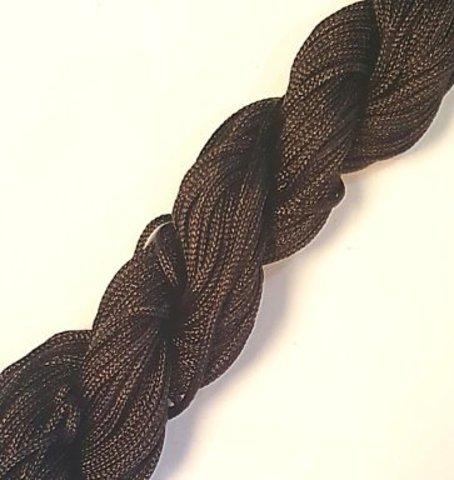 Шнур для плетения (нейлон) 1.0 мм темно-коричневый