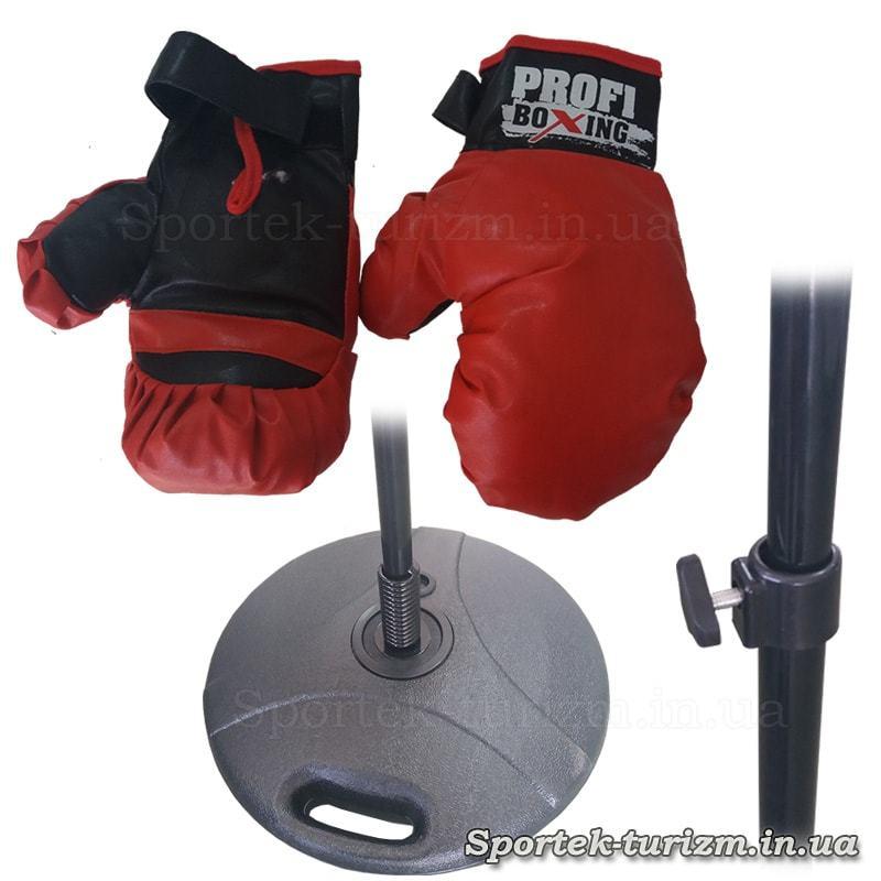 Елементи дитячого боксерського набору - груша для підлоги на стійці з рукавичками MS 0333