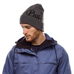 Вязаная шапка Buff Hat Knitted Vadik Melange Grey - 2