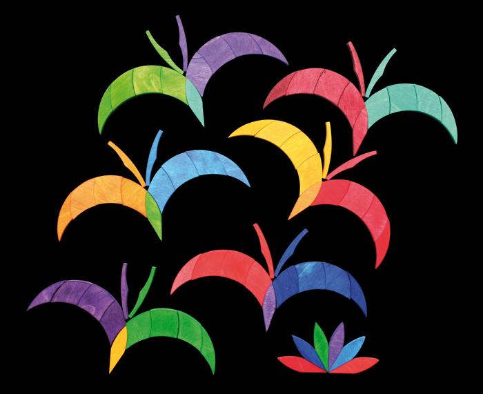 Магнитная мозаика Цветная спираль
