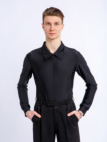 Рубашка-боди черная для танцев