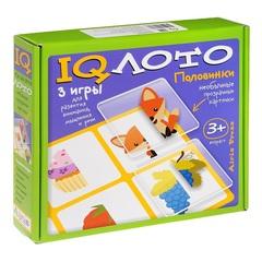Развивающая игра IQ лото Половинки (комплект из 3 игр), Айрис Пресс