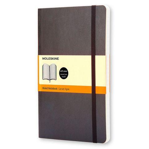 Блокнот Moleskine CLASSIC SOFT QP611 Pocket 90x140мм 192стр. линейка мягкая обложка черный