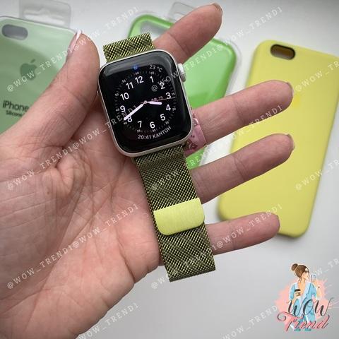 Ремешок Apple watch 38mm Milanese Loop /lime/