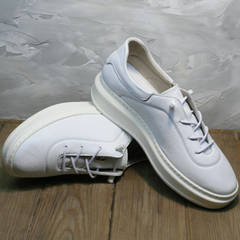 Модные белые кроссовки женские кожаные Rozen M-520 All White.