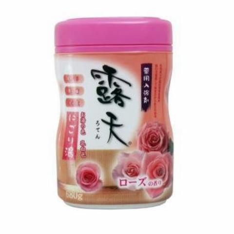 Fuso Kagaku Соль для ванны с бодрящим эффектом и ароматом роз 680 гр в банке