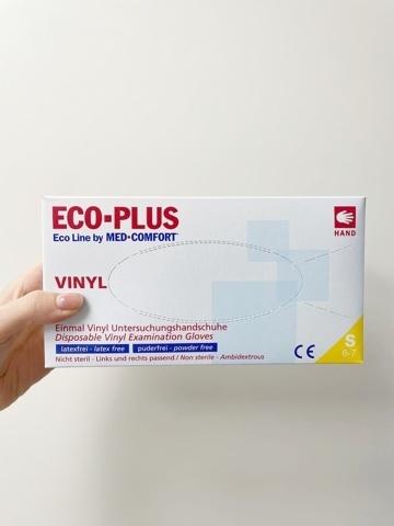 Виниловые перчатки смотровые ECO PLUS размер S