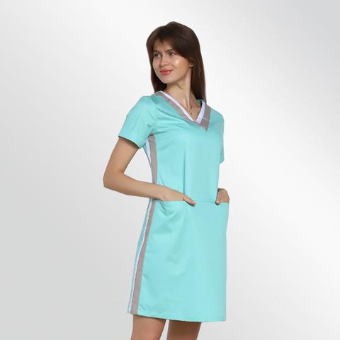 Платье медицинское арт АД мята