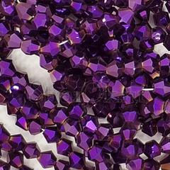 Фиолетовые бусины биконусы купить Purple Hematite