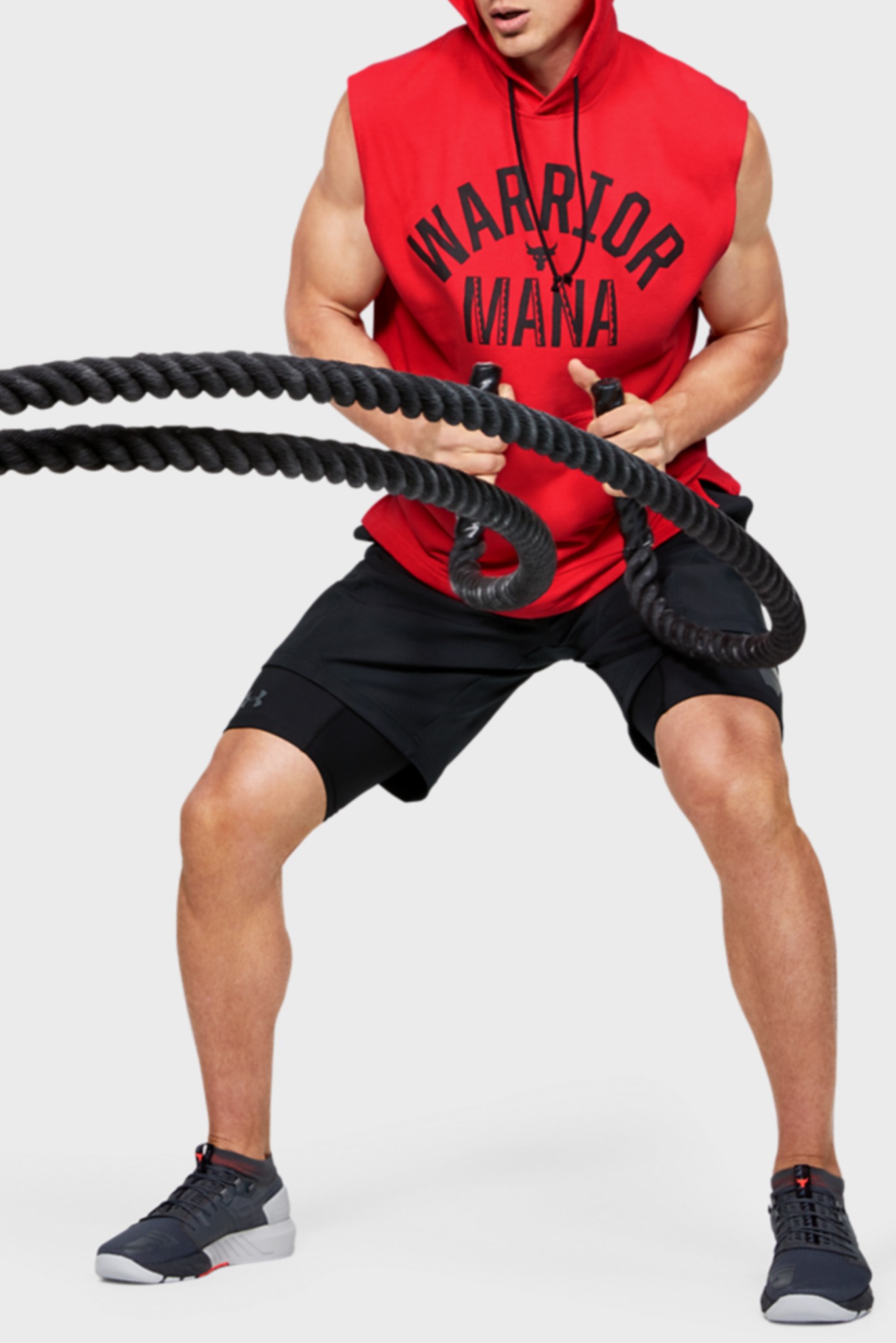 Мужская красная спортивная майкаProject Rock SL Terry Hoodie Under Armour