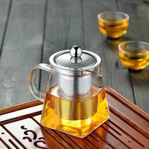 Чайник заварочный стеклянный 4-х гранный, 750 мл