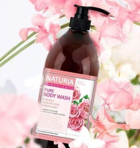 Гель для душа Роза - розмарин / NATURIA PURE BODY WASH, Rose & Rosemary 750 мл